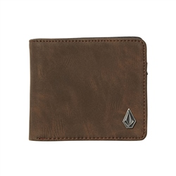 Volcom Slim Stone PU Wallet - Brown