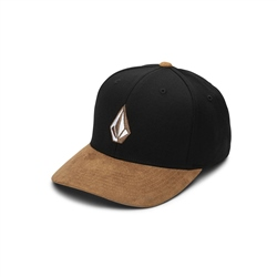 Volcom Full Stone Heather Xfit Cap - Asphalt Black