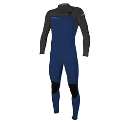O'Neill Boys Hammer 3/2mm Chest Zip Wetsuit - Navy & Acid Wash (2020)
