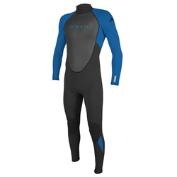 O'Neill Boys Reactor-2 3/2mm Back Zip Wetsuit - Black & Ocean (2020)