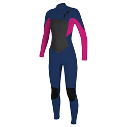 O'Neill Girls Epic 4mm Chest Zip Wetsuit - Navy & Berry (2020)