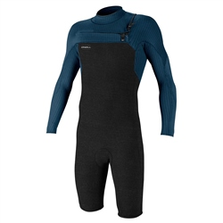 O'Neill HyperFreak Chest Zip Spring Wetsuit - Acid Wash & Abyss