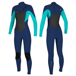 O'Neill Epic 3/2mm Chest Zip Wetsuit - Navy & Light Aqua (2020)