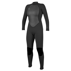 O'Neill Womens Reactor-2 3mm Back Zip Wetsuit - Black