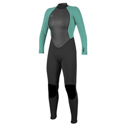 O'Neill Womens Reactor-2 3mm Back Zip Wetsuit - Black & Light Aqua