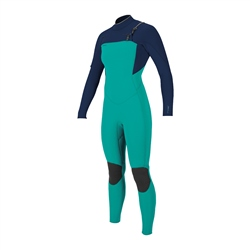 O'Neill HyperFreak FUZE 4mm Chest Zip Wetsuit - Capri Breeze& Abyss