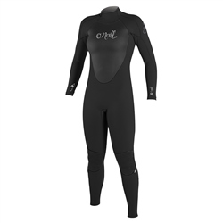 O'Neill Womens Epic 4mm Back Zip Wetsuit - Black
