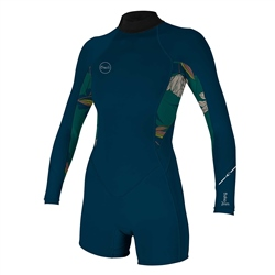 O'Neill Bahia Back Zip Spring Wetsuit - French Navy & Bridget (2020)