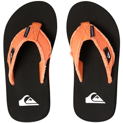 Quiksilver Monkey Abyss Flip Flops - Black & Orange