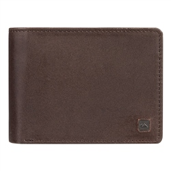 Quiksilver Mack X Leather Wallet - Chocolate Brown