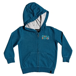 Quiksilver Bigger Picture Zipped Hoody - Majolica Blue