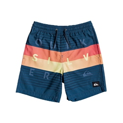 "Quiksilver Word Block 15"" Volley Shorts - Majolica Blue"