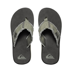 Quiksilver Mens Monkey Abyss Flip Flops - Green & Black