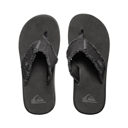 Quiksilver Monkey Abyss Flip Flops - Black & Brown