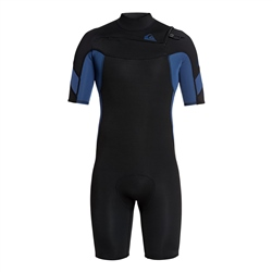 Quiksilver Syncro Shorty Wetsuit - Black & Blue (2020)