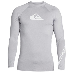 Quiksilver All Time Rash Vest - Sleet Heather
