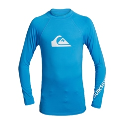 Quiksilver Long Sleeved All Time Rash Vest - Blithe