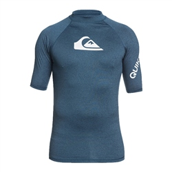 Quiksilver Mens All Time Rash Vest - Blue