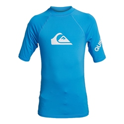 Quiksilver Short Sleeved All Time Rash Vest - Blithe