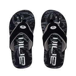 Animal Jekyl Logo Boys Flip Flop - Black