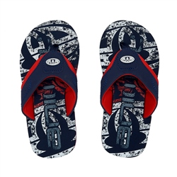 Animal Jekyl Logo Boys Flip Flop - Indigo Blue