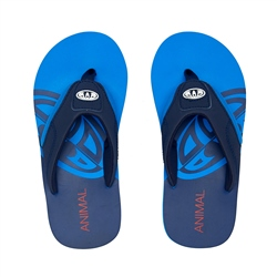 Animal Jekyl Slice Boys Flip Flop - Indigo Blue