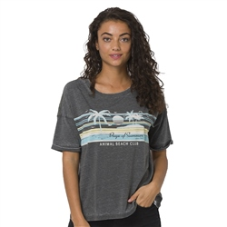 Animal Beach Days T-Shirt - Raven Black Marl