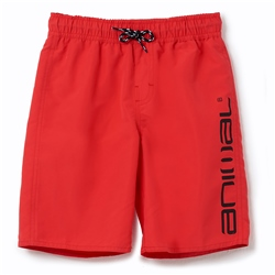 Animal Tannar Boys Boardshorts - Watermelon Red