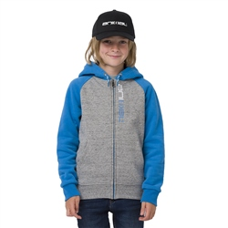 Animal Humming Zipped Boys Hoody - Grey Marl