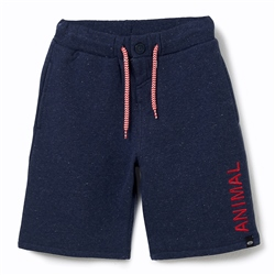 Animal Cove Boys Sweat Shorts - Indigo Blue Marl
