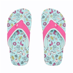 Animal Swish AOP Flip Flop - Misty Green