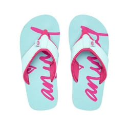 Animal Swish Logo Flip Flop - Misty Green