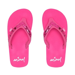 Animal Swish Slim Flip Flop - Raspberry Rose Pink