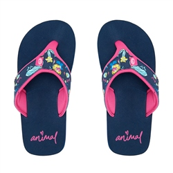 Animal Swish Upper AOP Flip Flop - Indigo Blue