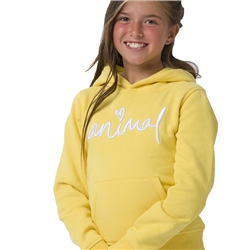 Animal Rachelle Girls Hoody - Primrose Yellow
