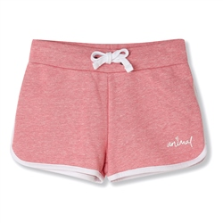 Animal Sportie Girls Sweat Shorts - Flamingo Pink Marl