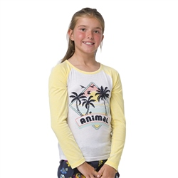 Animal Holliday Girls T-Shirt - White