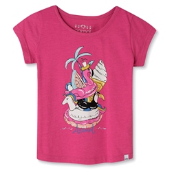Animal Inflatables Girls T-Shirt - Raspberry Rose Pink