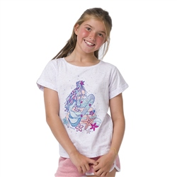 Animal Mermaid Girls T-Shirt - White