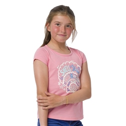 Animal Shelby Girls T-Shirt - Flamingo Pink Marl