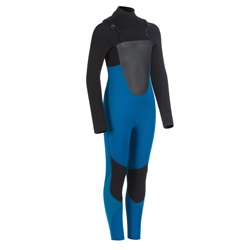 Animal Boys Lava 4/3mm Chest Zip Wetsuit - Marina Blue (2020)
