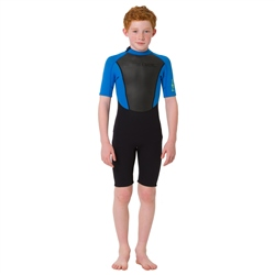 Animal Boys Nova Back Zip Shorty Wetsuit - Black (2020)