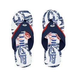 Animal Jekyl Logo Flip Flop - White
