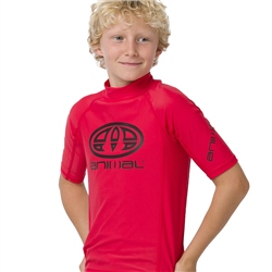 Animal Hiltern Boys Rash Vest - Watermelon Red