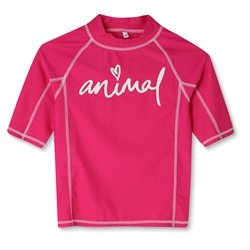 Animal Molli Girls Rash Vest - Raspberry Rose Pink
