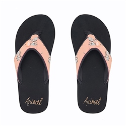 Animal Swish Upper AOP Flip Flop - Cayon Sunset Orange