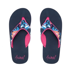 Animal Swish Upper AOP Flip Flop - India Ink Blue