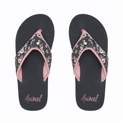 Animal Swish Upper AOP Flip Flop - Raven Black