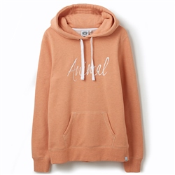 Animal Sketched Hoody - Canyon Sunset Orange Marl