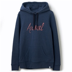 Animal Sketched Hoody - India Ink Blue Marl